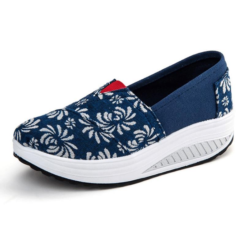 Para Casuales Señoras Mujer 1 Zapatos Planos Mujeres De 2 2016 Las 5 Oscilación 4 Nuevos La Negro 3 Ups Plataforma Forma fBwPv