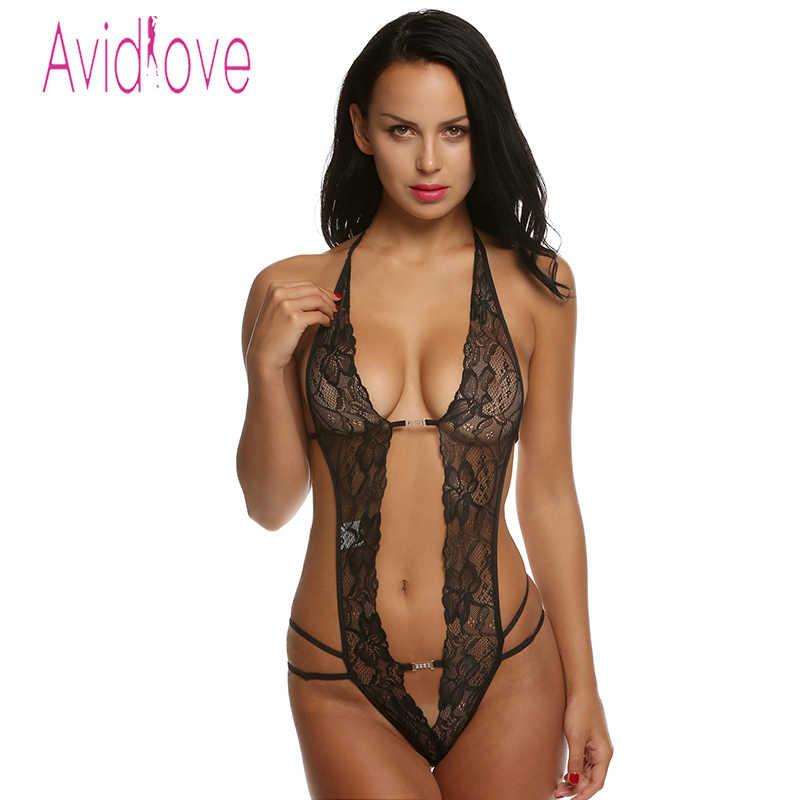 4b95b50edac54 Avidlove Women Sexy Lingerie Hot Erotic Plus Size Sexy Porn Lace One-Piece  Underwear Women