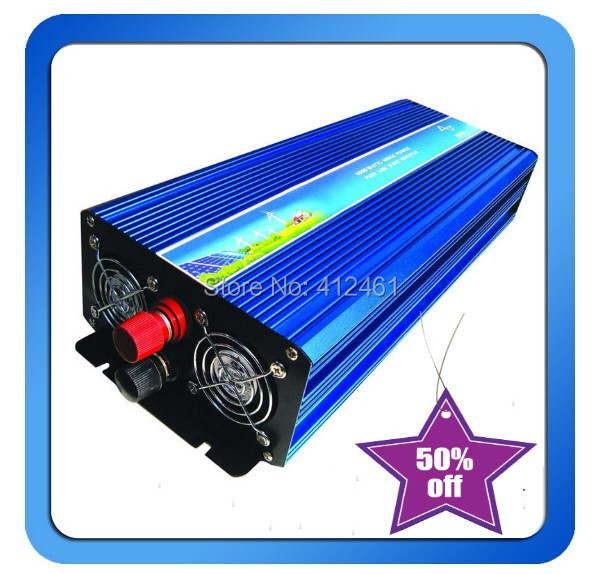 цена на 6000W Off Grid Inverter 12V 24V DC to AC 100/110/120VAC or 220/230/240VAC with 3000W Surge Power, Solar Wind Inverter 6000W 24V