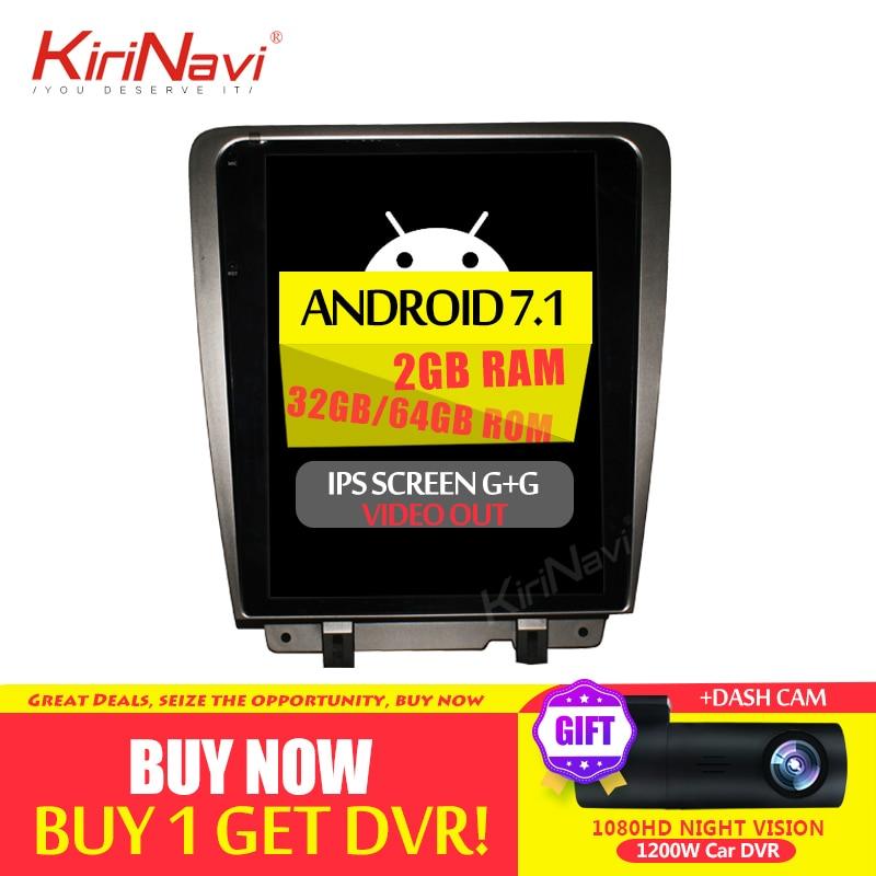 KiriNavi Android 7.1 Schermo Verticale Tesla Stile 12.1 Pollici Autoradio Per Ford Mustang GPS di Navigazione Touch Screen Bluetooth