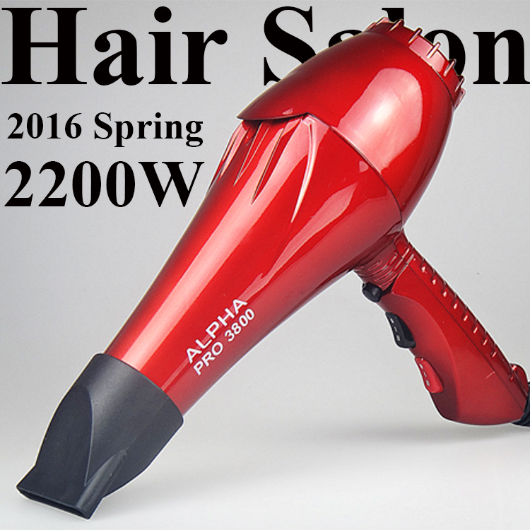 Ceramic Ionic ALPHA Pro 3800 Professional Hair Dryer for Hair Salon Fast Styling Blow Dryer Long