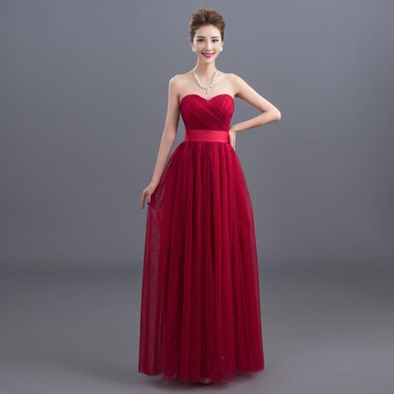 La estrella de mar vestito damigella donna SALE tulle Off the Shoulder A Line burgundy purple champagne gray   bridesmaid     dresses