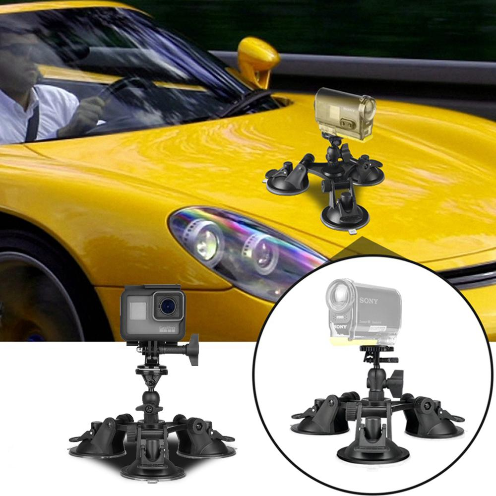 3-Cup Car Suction Cup Car DV Windshield Camera Stand Holder Suction Cup Mount Tripod Holder For Sony HDR AS300 AS200 AS100 AS50 image