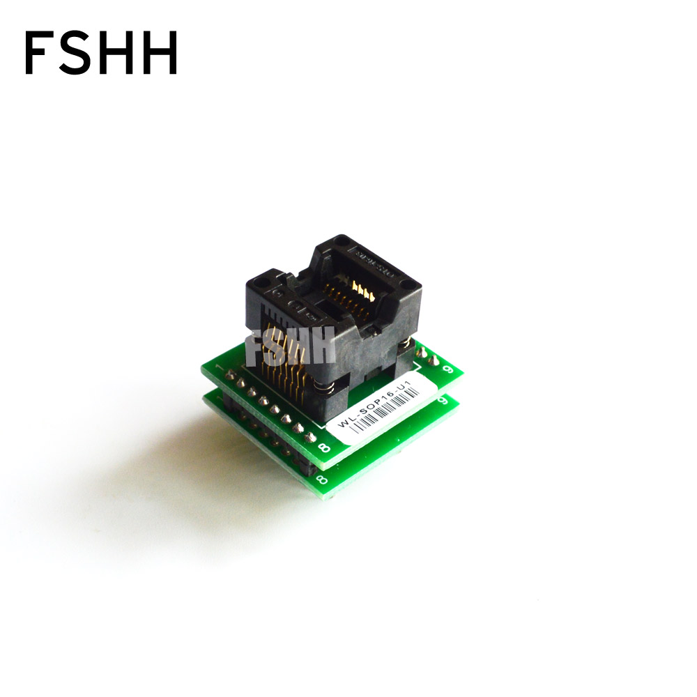WL-SOP16-U1 Adapter For Wellon Programmer Adapter 150mil SOP16 To DIP16 Adapter IC Test Socket IC Socket