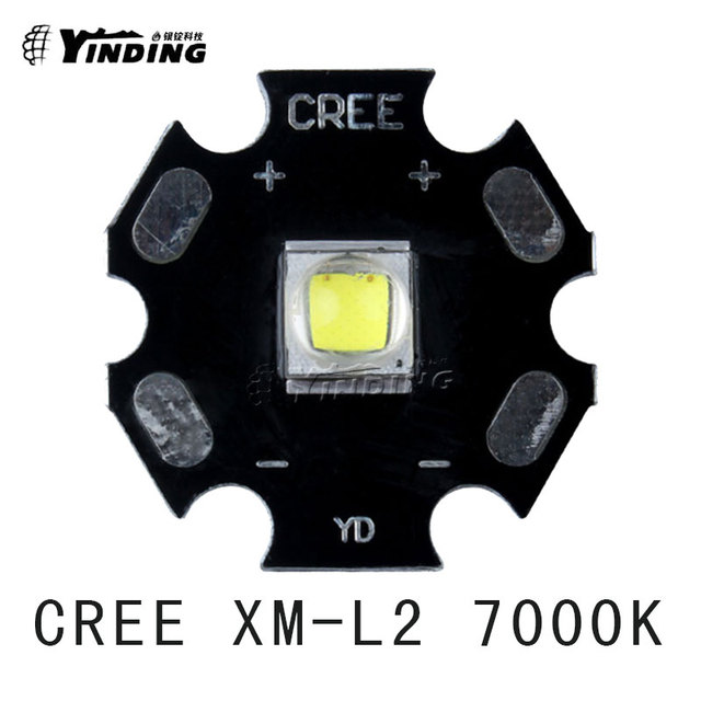 5pcs Cree Xlamp XM L2 T6 U2 U3 Cold White 0D 7000K 10W High Power