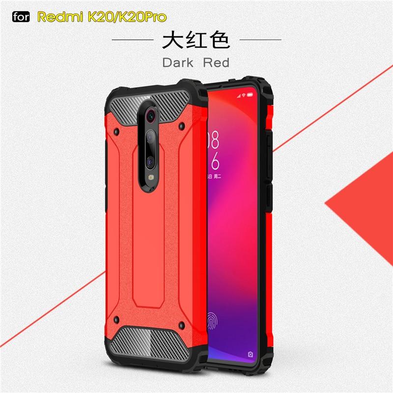 For Xiaomi Redmi K20 Case Silicone Rubber Armor Shell Hard PC Back Phone Cover For Xiaomi Redmi K20 Case for Xiaomi Redmi K20 in Fitted Cases from Cellphones Telecommunications