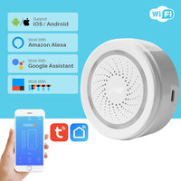 Wi-Fi сирена датчик сигнализации умный дом системы безопасности USB питание приложение уведомления через смартфон Поддержка Alexa Google Home IFTTT