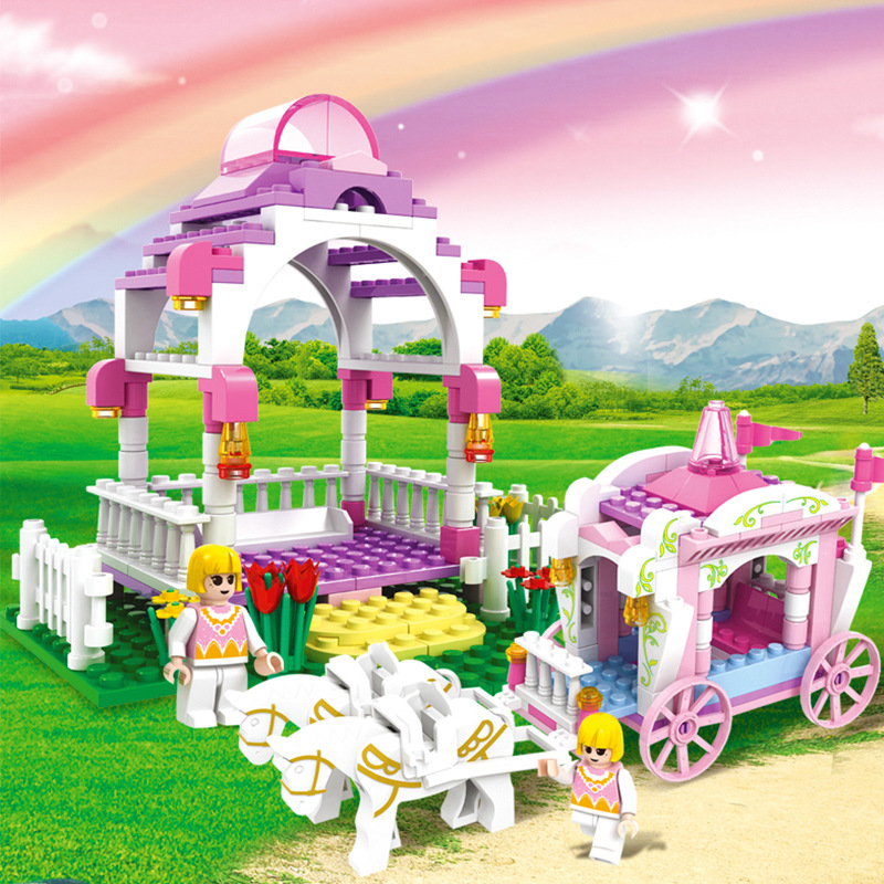 7-Style-Kids-Dream-Princess-and-Prince-Pink-Palace-Castle-Set-Model-Building-Blocks-Compatible-With-Lego-Gifts-child-Toys-2