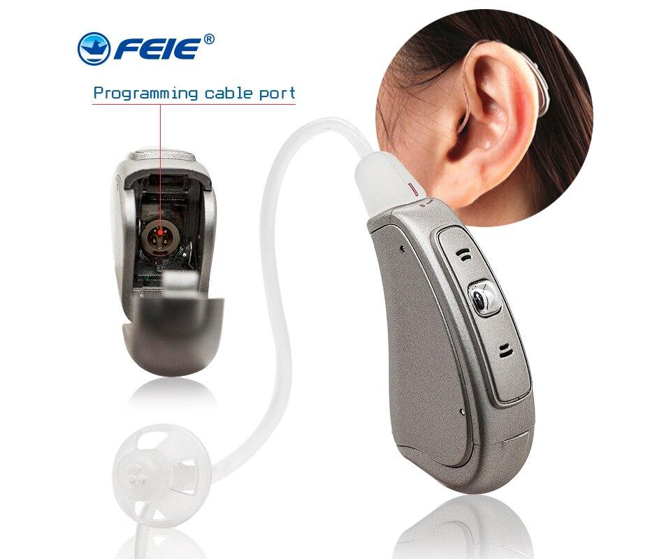 RIC Amplificadores Digitais próteses auditives nos Aparelhos auditivos para surdos MY-19S Shippin Queda