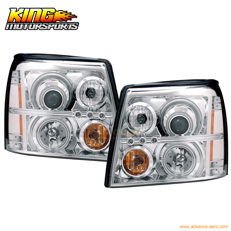 For 03 06 Cadillac Escalade Esv Projector Headlight Halo