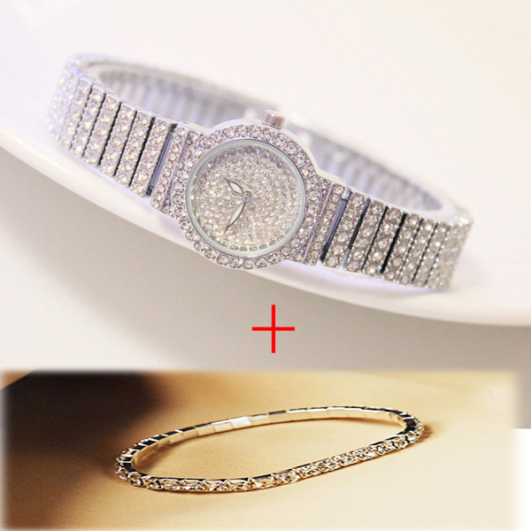 Livre pulseira de prata relógio conjunto completo