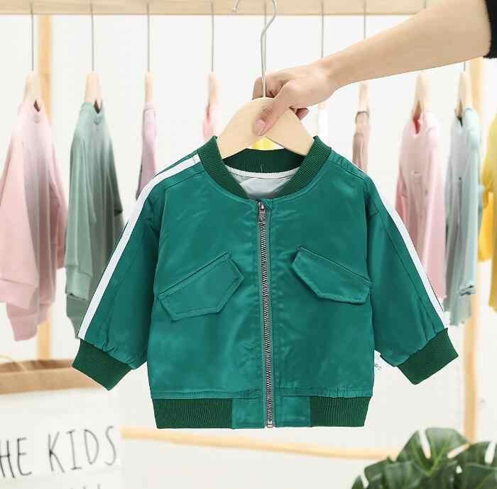 Пальто для мальчиков и девочек, новинка 2019 года, корейская модная куртка с вышивкой для маленьких девочек, детская бейсбольная одежда