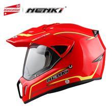 NENKI Motociclo casco Casco Da Corsa Moto Casco Casco Cross Casco Capacetes Pieno Viso Moto Per Adulti Motocross Off Road Casco 310