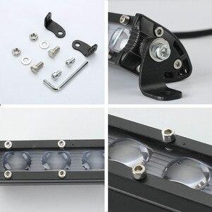 Image 5 - Lampade A LED Per Auto 8 Pollici 60W Luce del Lavoro del LED Bar Impermeabile Off Road Spotlight Proiettore Lampada Della Nebbia Luces led Para Auto