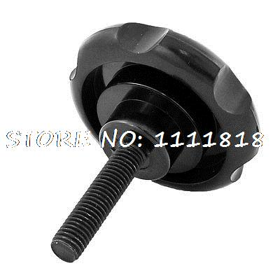 Machine Tool Black M12 x 50 Thread 80mm Dia Top Bakelite Knob Handle
