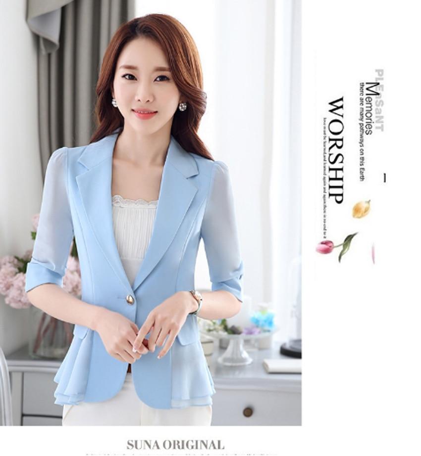Women Blazers And Jackets Real Flying Roc 2019 Woman Blazer Casual Slim Women Sleeve Branco Feminino Office Lady Jacket Suit
