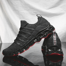 2019 New Men Running Shoes Lace-up Athletic Trainers Sports Outdoor Walking Jogging Sneakers New Technology Cushioning Sole sufei men running shoes breathable mesh sneakers athletic air cushioning lace up outdoor jogging walking sports trainers