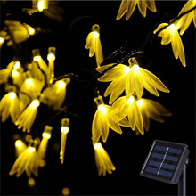 Holiday Lighting Waterproof 6M 30 Led Four-leaf Flower Solar Powered String Lamp Christmas Festival Decoration String lights