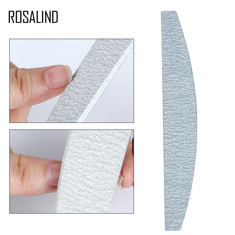 ROSALIND Nail File Nail Polish 5PCS/SET Set Full Professional Pedicure Polishing Sanding All For Manicure Nail Files Tools