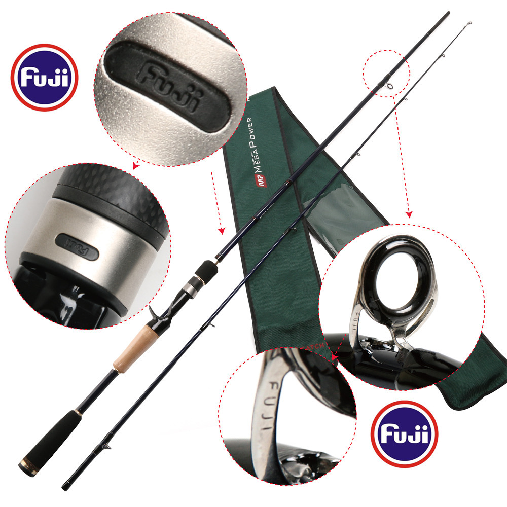 24T/IM6 Carbon Fishing Rod Legend 702 Casting Fishing Rods 2.10m Dual Tips H Power pro mark promark h rods hot rods
