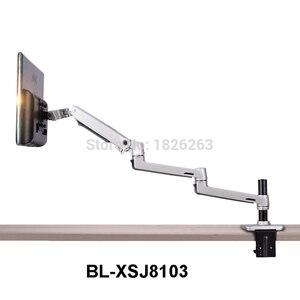 Image 1 - Porta monitor lcd de alta qualidade, suporte para monitor de lcd, braço ultrafino de liga de alumínio, suporte de montagem com presilha de mesa, monitoramento de movimento completo
