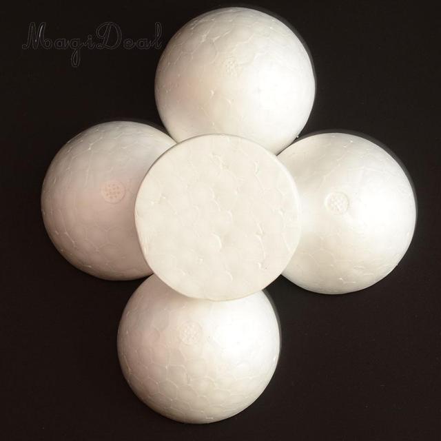 5 stucke halbe runde solide styropor kugeln fur weihnachten hochzeit modellierung kinder handwerk 120mm