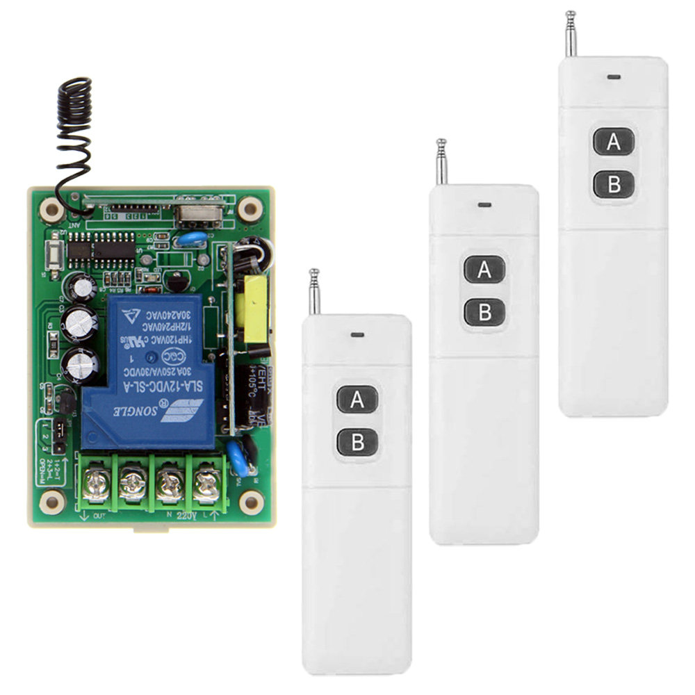 3000m Long Distance 30A Relay AC 220V 110V 85-265V 1 CH 1CH Wireless RF Remote Control Switch Transmitter + Receiver,315 433.92 3000m ac 220v 110v 1 ch 1ch rf wireless remote control switch system 8ch transmitter 8 x receiver toggle momentary 315 433 92