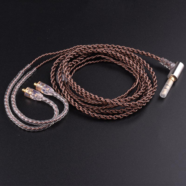 Upgrade DIY MMCX Cable for Shure SE215 SE425 SE535 SE846 Earphone Headphone AUX 3.5mm Wire with Heat Shrink Tubing