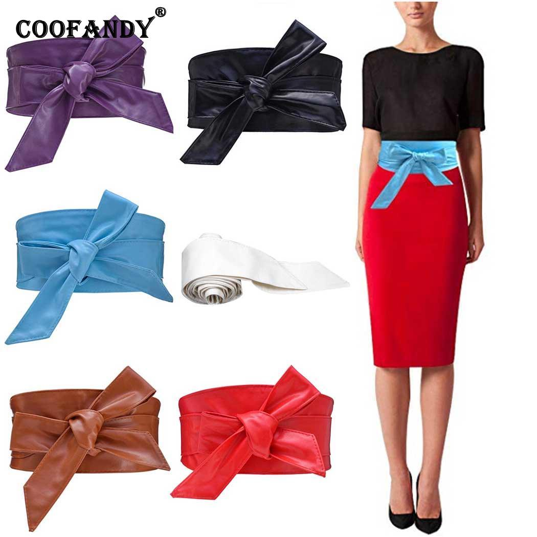 Dress Outdoor Waist   Belt   5 11cm Party Synthetic etc Casual 33inch Solid 4 Leather Coat Retro Wrap 5 Women 2 Bow Knot 16