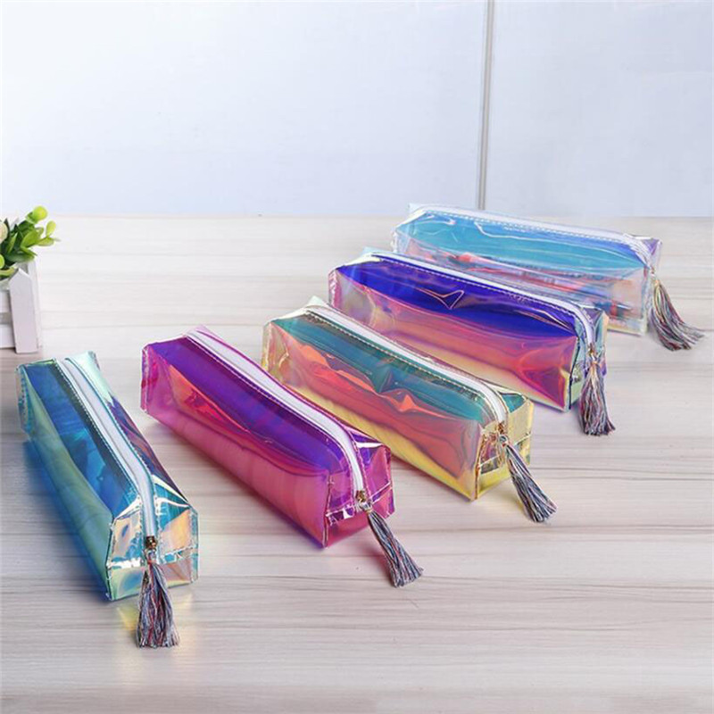 6Colors <font><b>Transparent</b></font> Laser Travel Make Up <font><b>Bag</b></font> Holographic PU Leather Makeup Case for <font><b>Cosmetic</b></font> Tool image