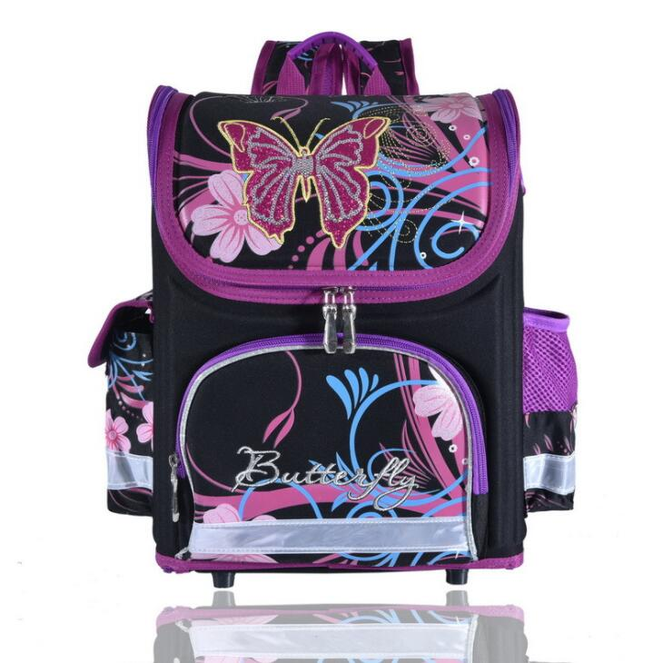 School Bag Orthopedic Girls Princess Children School Bags Butterfly the First Monster Hi ...