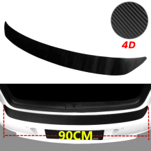 купить Car SUV Rear Bumper Sill Protector Plate Rubber Cover Guard Pad Moulding Trim Car DIY Rubber Pad Trim Anti-Scratch Cover Strip онлайн