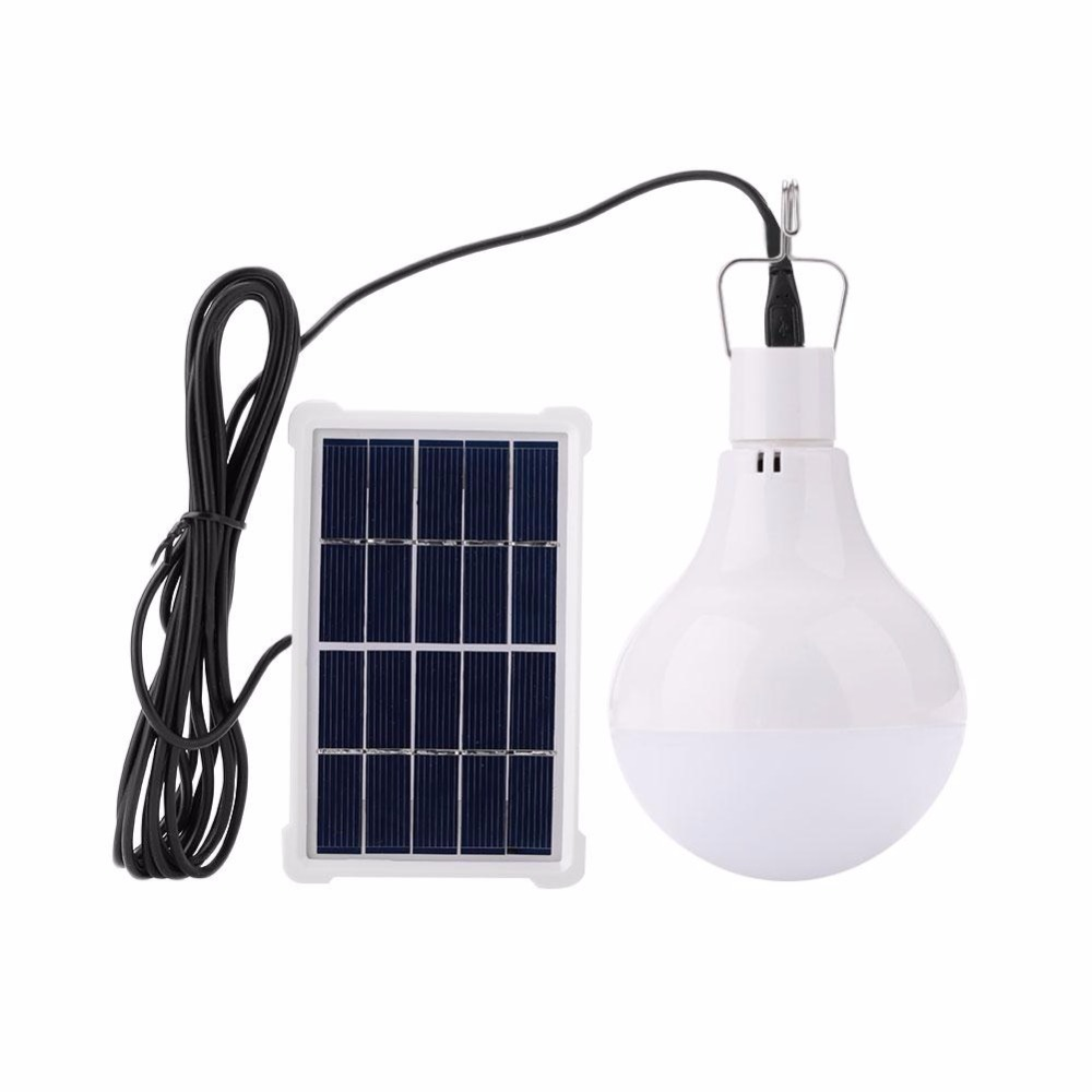 new and hot White 3.7V 1800mA LED Light Camping Solar Energy Bulb Traveling Hiking Outdoor portable Power Charged Hot
