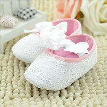 2734f64796d 2015 Puro Blanco bautismo encaje princesa recién nacido bebé niña Zapatos  Bebé flor primer caminante zapatos para niñas