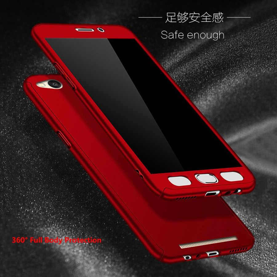 شياو mi 8 الأحمر mi S2 حالة الزجاج جراب هاتف شاومي mi A1 الأحمر mi 6 زائد 4X4 برو 5 زائد 4A 5A 3 ثانية حالة 360 قطعة غطاء حالة الزجاج المقسى