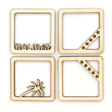 10pcs 6x6cm Rectangle Wooden Photo Frame With FAMILY Letter Amazing English Hanging DIY Picture Frame Art Craft Home Decor 10pcs set wooden mini round photo frame hanging crafts diy handmade with ropes home decoration ornament