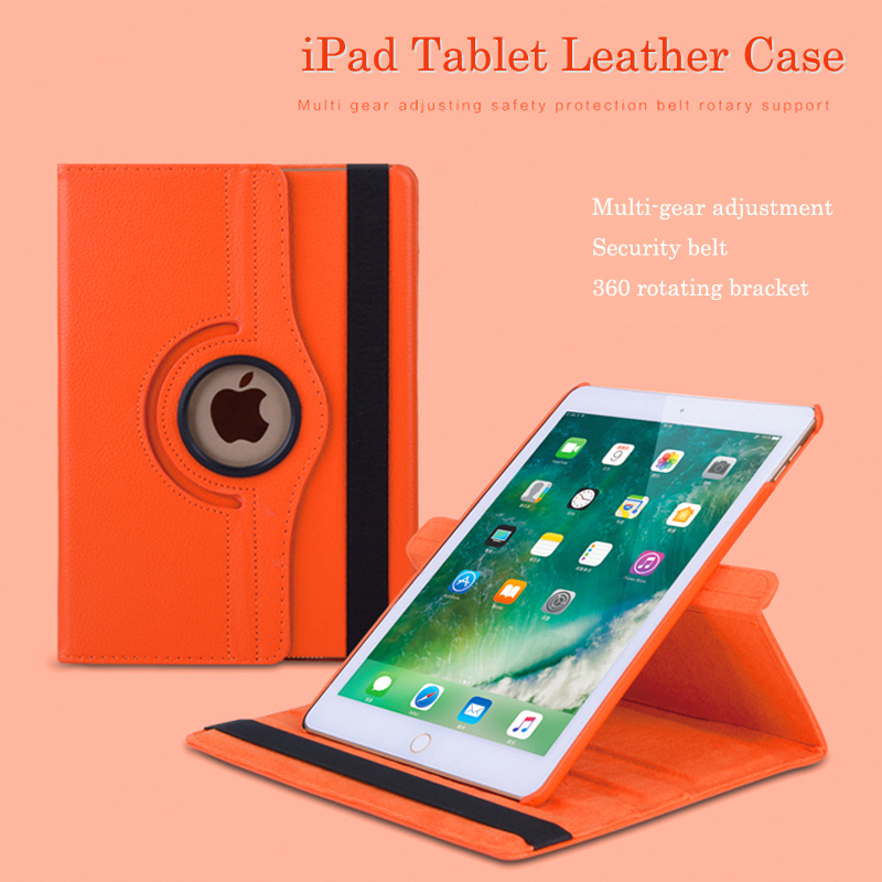 Tablet Case For iPad 9.7 inch 2017 360 Rotating Flip Leather Cover For Apple iPad 9.7'' 2017 Stand Smart Capa Fundas for apple ipad air 2 pu leather case luxury silk pattern stand smart cover