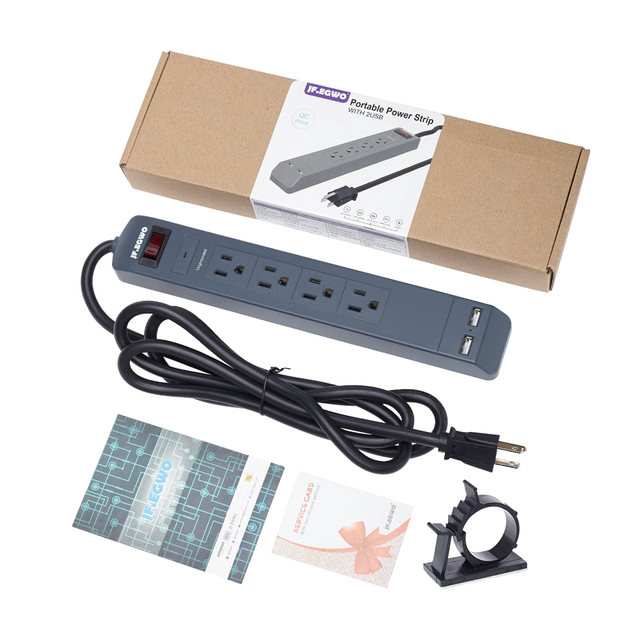 JF.EGWO Surge Protector Power Strip Smart Power Socket US Plug ...