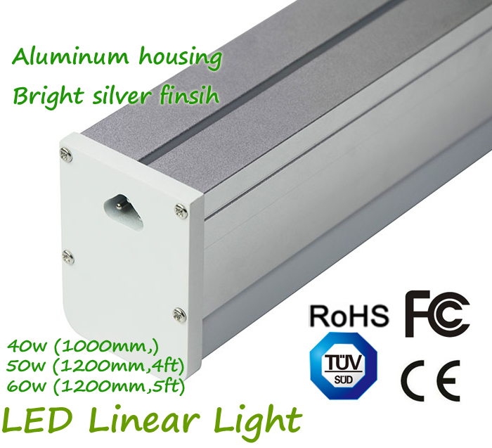 Aluminum Housing Led Linear Light Connection One by One 100cm 120cm 150cm 40W 50W 60W LED Parking Garage Light garage parking sensor led stop sign garage parking light assistant system flashing led light parking stop sign drop shipping