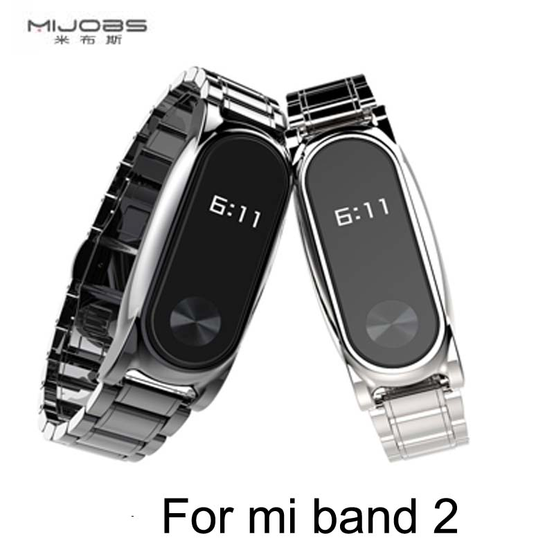 Metal Strap For Xiaomi Mi Band 2 Screwless Stainless Steel Bracelet For MiBand 2 Wristbands Replace Accessories For Mi Band 2 metal strap for mi band xiaomi wristband replace accessories screwless stainless steel bracelet for mi band 2
