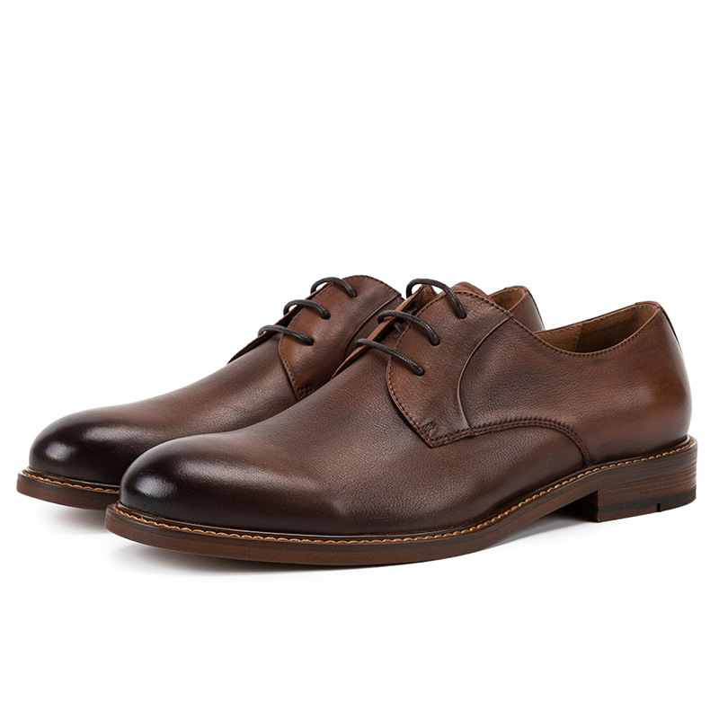 Sapatos dark Dedo Casuais Lace Mycolen Genuíno Brown Vaca Casamento Homens Grey Marca Britânico Pé Designer De Redondo Estilo Couro Vestido Do Formal up 1qw4naq8E
