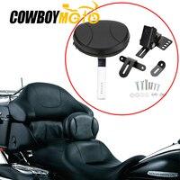 For 1997 2017 Harley Touring Electra Road Street Glide Road King Adjustable Plug In Driver Rider Backrest Luggage Rack