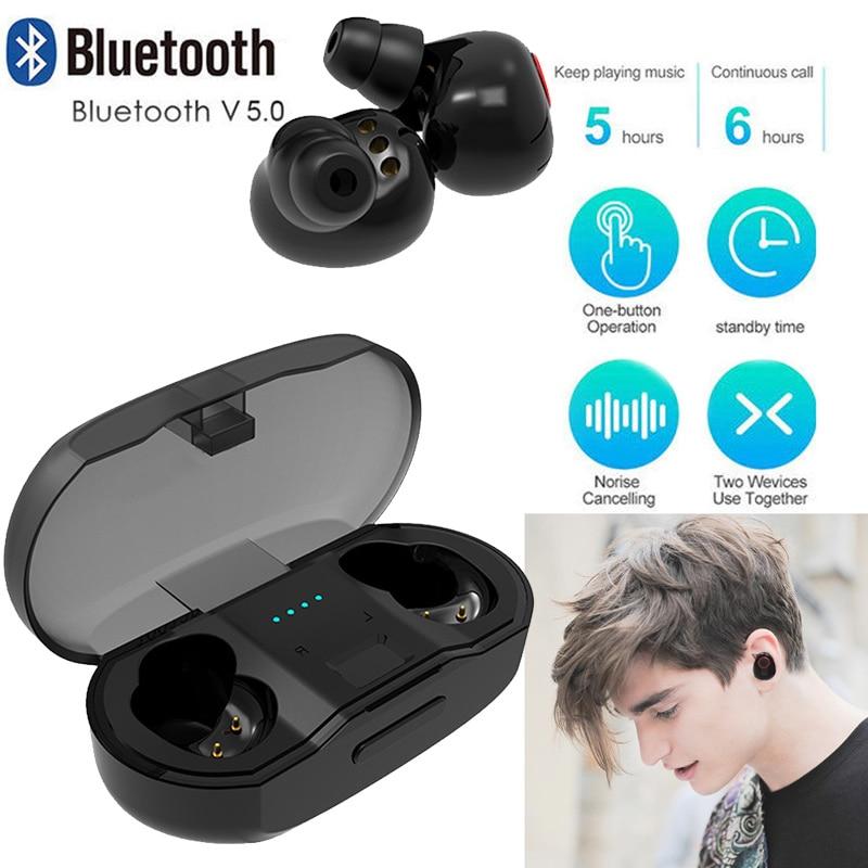 Стерео Earset невидимые наушники Беспроводной Bluetooth наушников 480 mAh-вкладыши мини с загрузочной коробки Bluetooth V5.0