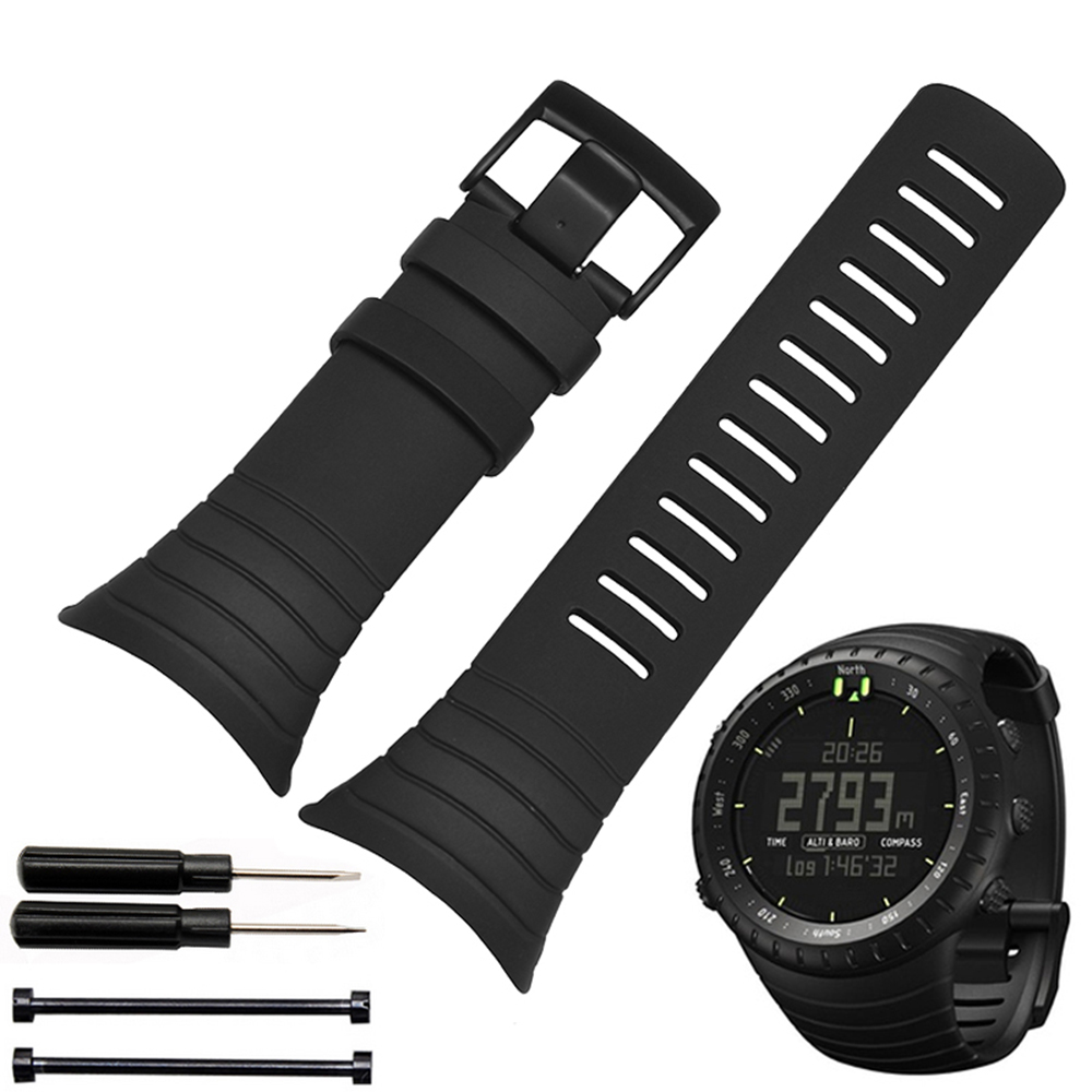 Smart Silicone watches band watchband Rubber strap wristband bracelet 25mm for SUUNTO CORE wristwatches belt Free toolsSmart Silicone watches band watchband Rubber strap wristband bracelet 25mm for SUUNTO CORE wristwatches belt Free tools