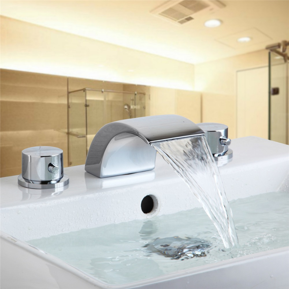 Single Hole Polished Chrome LED Basin Faucet Brass Bathroom Sink - Cheap bathroom fixtures online