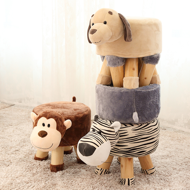 Time-limited Taburetes Pufe Solid Wood Childrens Stool Cartoon Home Fashion For Creative Animal Footstool Living Room WoodenTime-limited Taburetes Pufe Solid Wood Childrens Stool Cartoon Home Fashion For Creative Animal Footstool Living Room Wooden