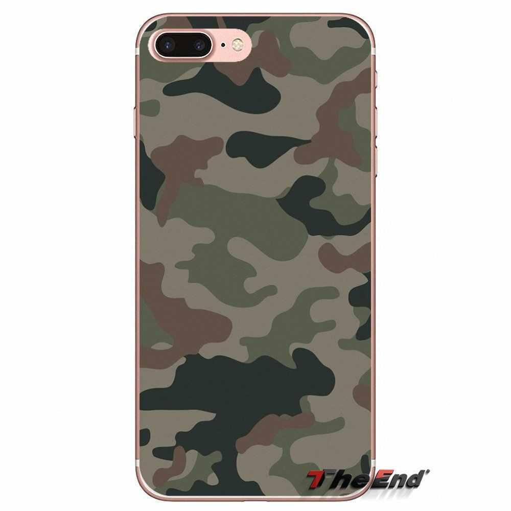 Per il iphone di Apple X 4 4 s 5 5 s SE 5C 6 6 s 7 8 Più di 6 Più 7 più 8 più Fundas Coque Colorato Army Camo Camouflage Pelle Custodia Morbida