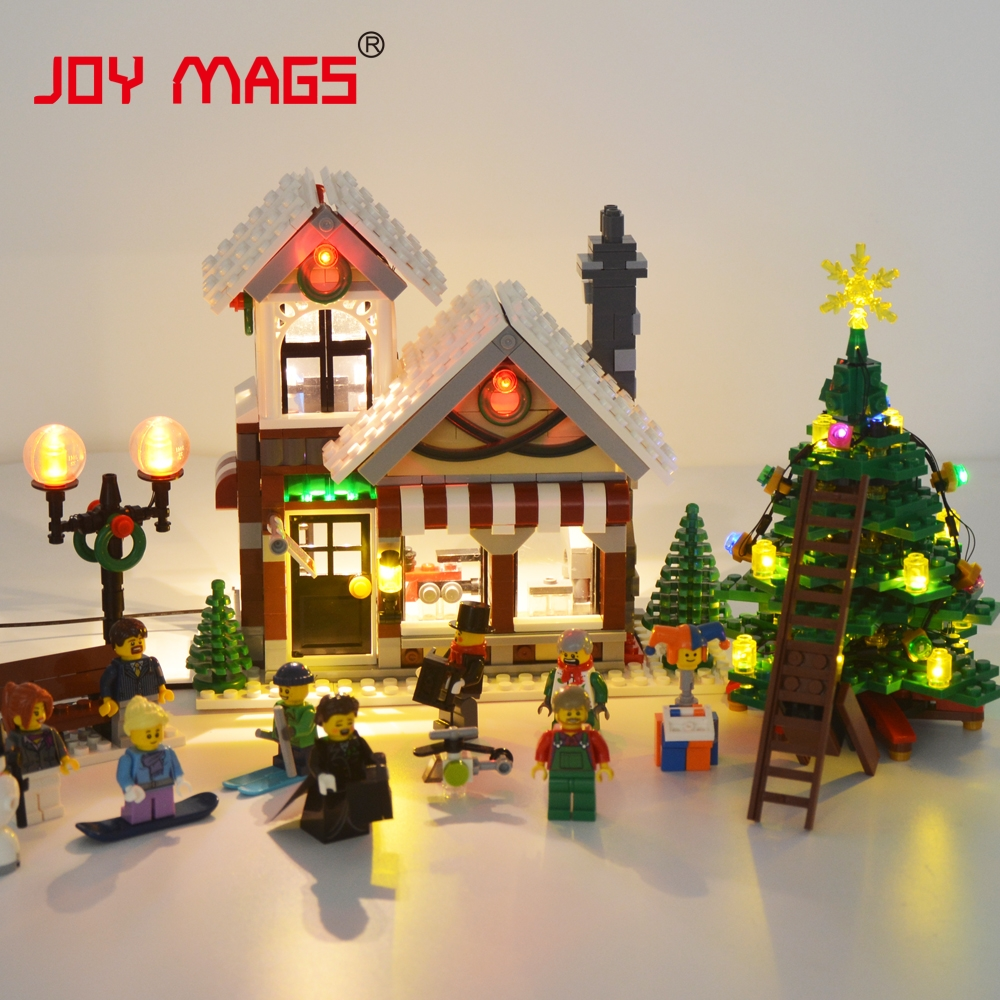 JOY MAGS Led Light Kit (Only Light Set) For Creator Expert Winter Toy Shop Building Block Compatible with Lego 10249 39015 joy mags only led light set building blocks kit light up kit for creator series f40 car compatible with lego 10248 21004