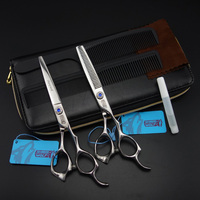 6 inch Sharp Wolf Professional high quality Hair scissors set,Cutting & Thinning scissors set,sharp edge,S615