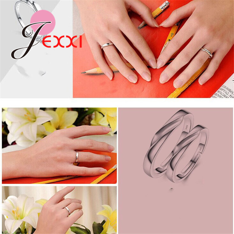925 Sterling Silver Couple Rings Fashion Jewelry Classical Rings Adjustable Sizes  Wholesale Separate Men and Women !!! 4